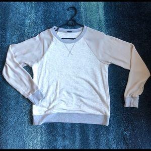 J Crew silk sleeves sweatshirt